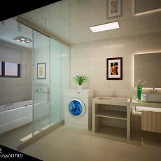 201897平米三居卫生间现代装修图片