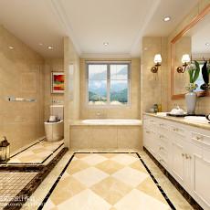 精选135平米欧式别墅卫生间实景图片欣赏