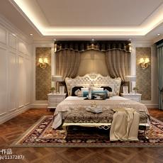热门大小111平别墅卧室欧式装修图