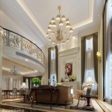 140平米欧式别墅客厅装修实景图