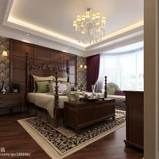 精选面积101平美式三居卧室装修效果图