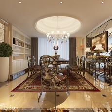 精美面积127平复式餐厅混搭装修图片欣赏