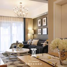 107平客厅三居现代装修实景图片