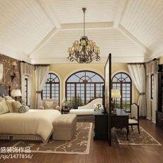 精美面积110平别墅卧室美式装修实景图片欣赏