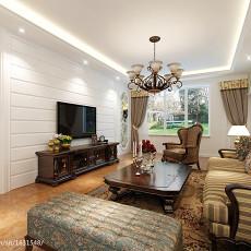热门面积102平美式三居客厅装修欣赏图