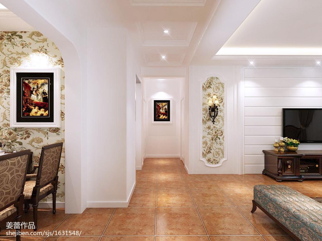 精选101平米三居客厅美式装修欣赏图