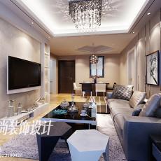 精美面积74平美式二居客厅装修欣赏图片