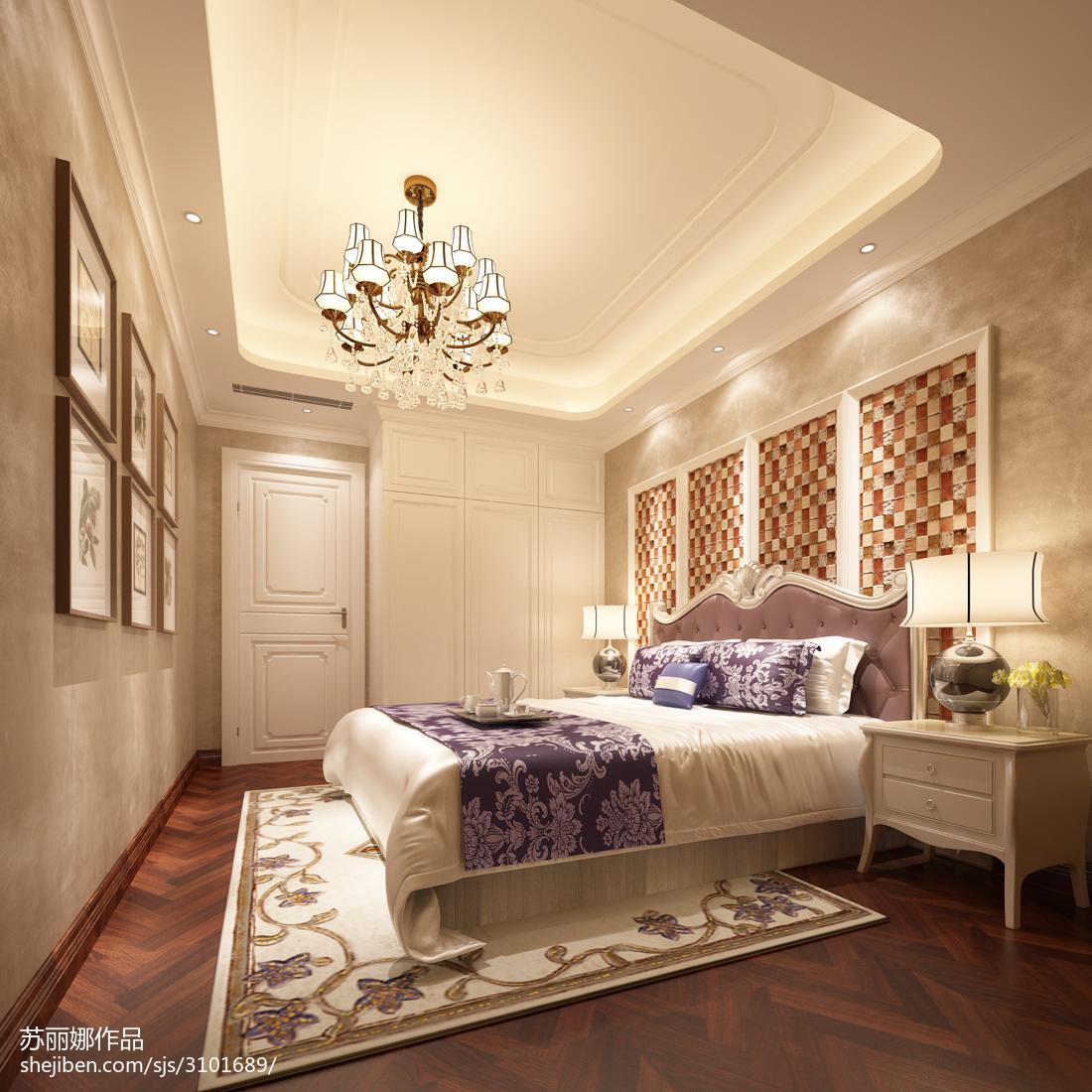 精选欧式四居卧室装修实景图片大全
