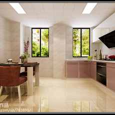 101平米三居厨房现代装修效果图片欣赏