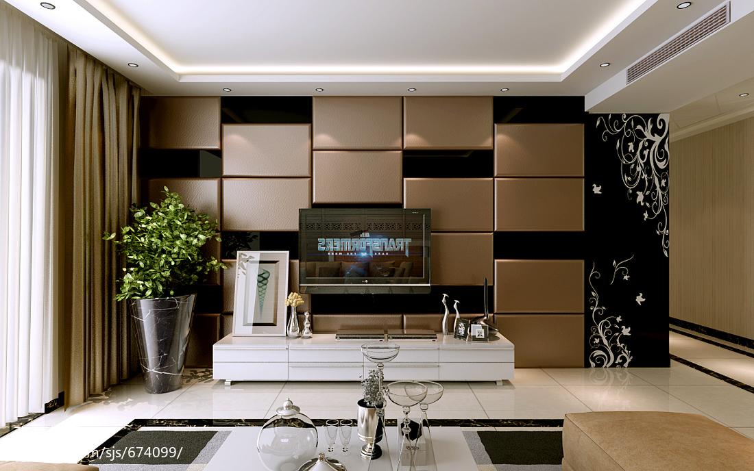 欧式电视柜背景墙装修效果图