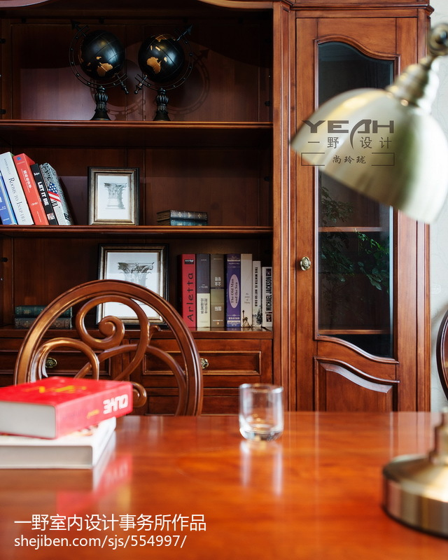 精美面积117平欧式四居书房装修效果图片大全