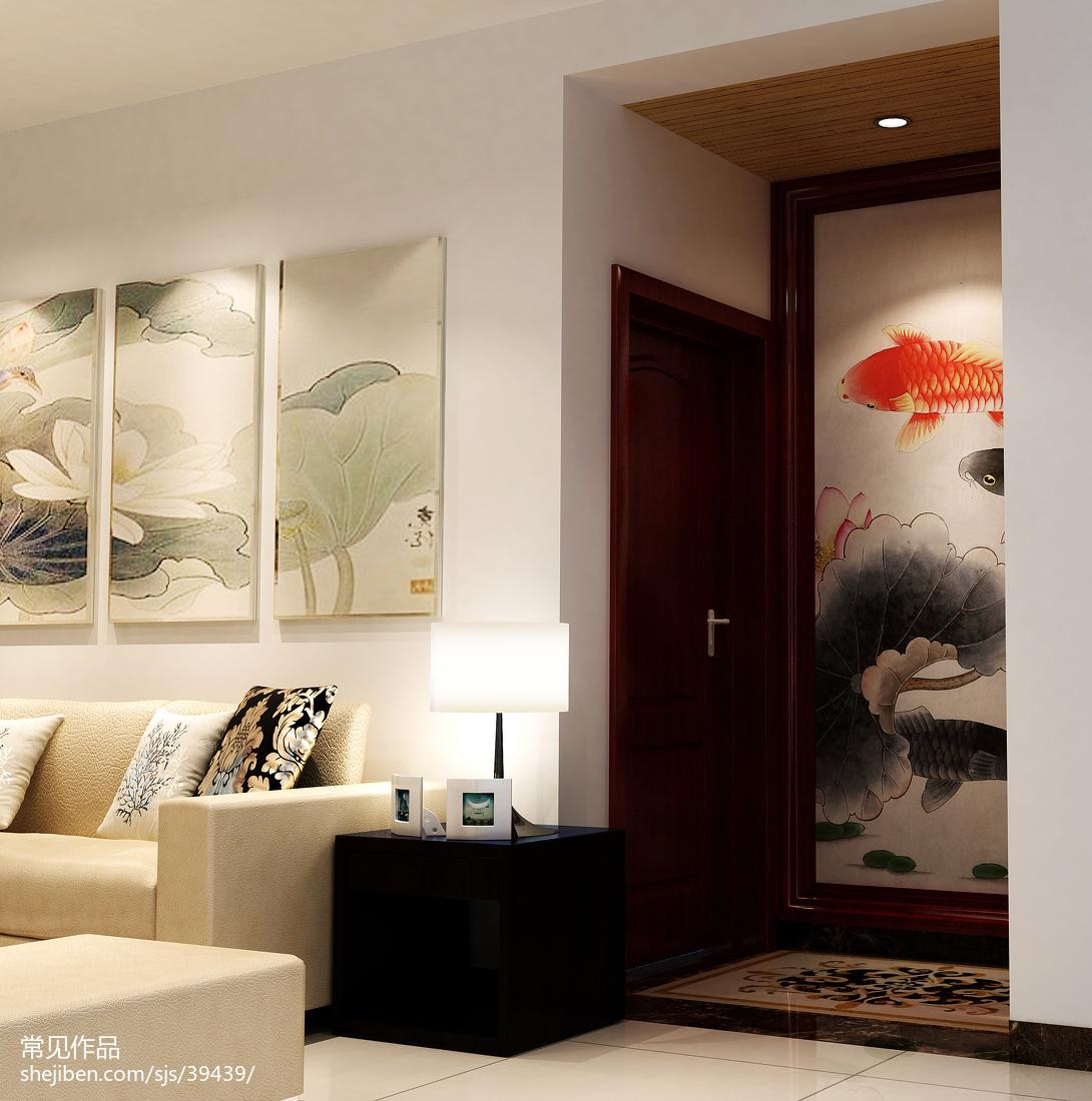 热门面积85平中式二居装修实景图
