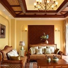 面积126平别墅客厅东南亚装饰图