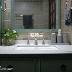 精美120平米四居卫生间美式装修设计效果图片