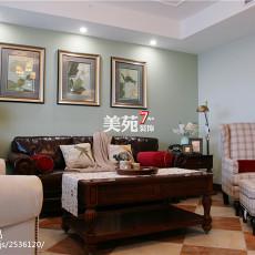 123平米四居客厅美式装饰图片大全