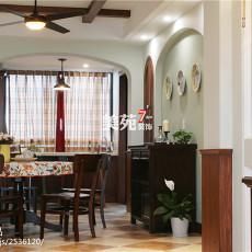 112平米四居餐厅美式装饰图片欣赏