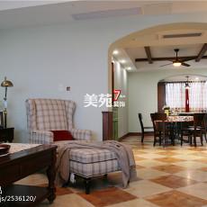 精选面积124平美式四居客厅装修设计效果图片
