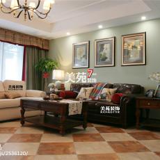 热门面积135平美式四居客厅效果图片欣赏