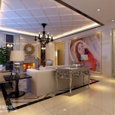 热门复式客厅欧式装饰图片大全