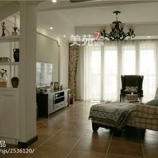 热门面积121平美式四居客厅装修图片