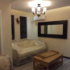 面积84平美式二居客厅实景图片