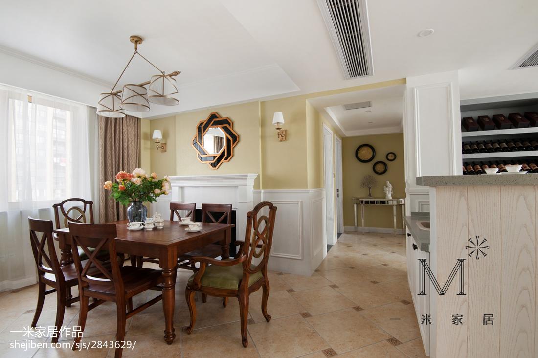 精美面积126平美式四居餐厅装修图片