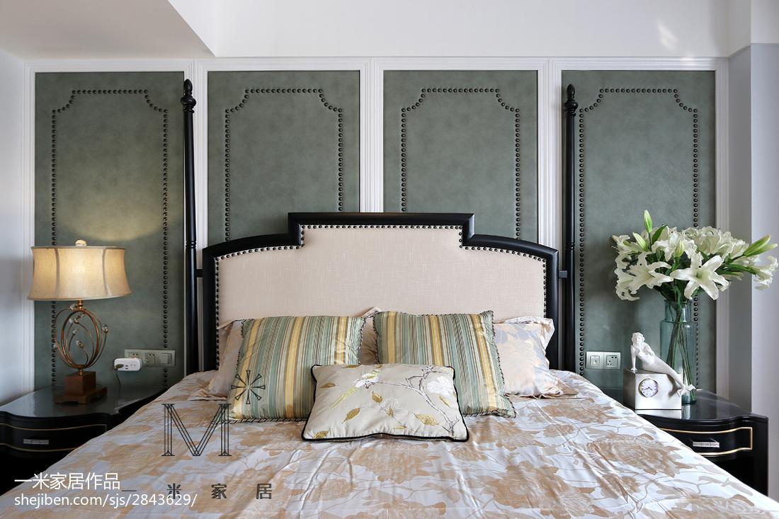 2018面积142平美式四居卧室装修设计效果图片欣赏