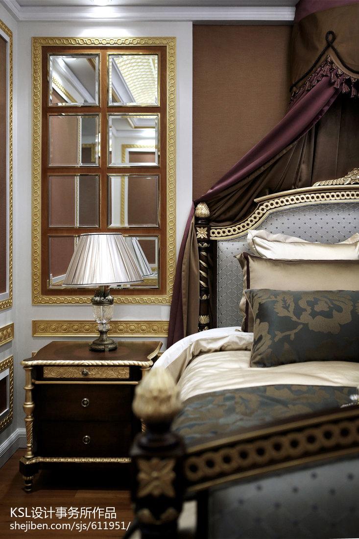 优美298平欧式样板间卧室装修设计图