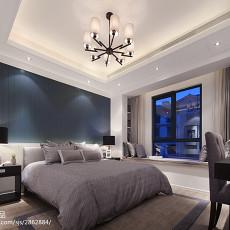 热门现代别墅卧室实景图片