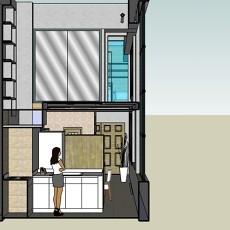 2018精选复式厨房美式装修设计效果图