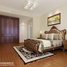 2018精选大小105平欧式三居卧室装修设计效果图片大全