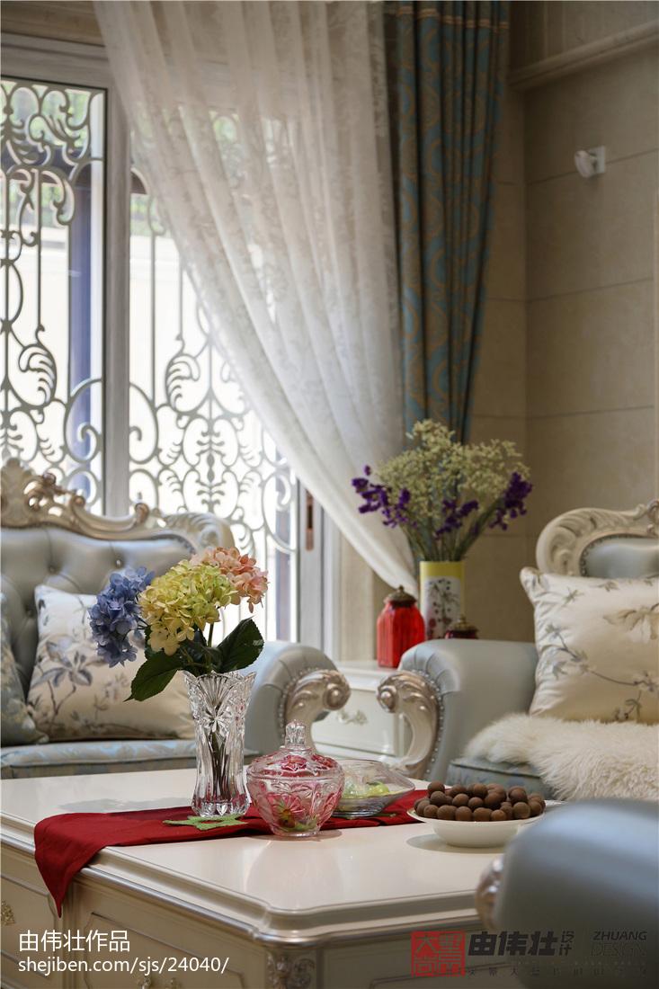热门大小117平别墅客厅欧式装修欣赏图片