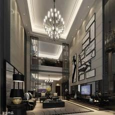 精美现代别墅客厅实景图片