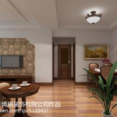 热门面积83平美式二居客厅装修图
