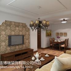 面积73平美式二居客厅装修图