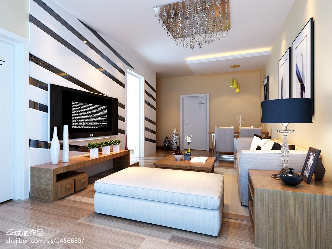 精选77平米现代小户型客厅装饰图片大全