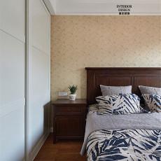 精选面积91平美式三居卧室装修实景图片