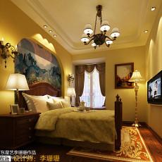 美欧风格三居室装修效果图大全