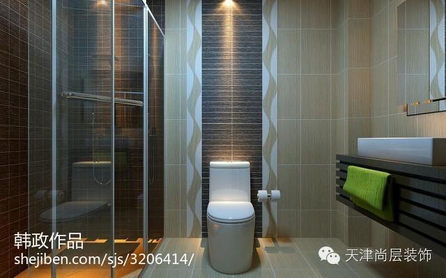 豪华大气的后现代风格别墅装修效果图卫生间图片