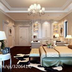 125平米现代别墅卧室欣赏图