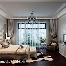 面积117平别墅卧室现代欣赏图
