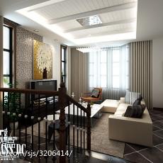 精美面积141平别墅客厅现代设计效果图