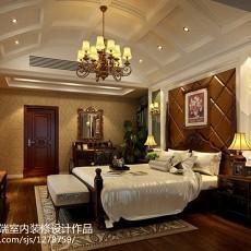美式别墅卧室实景图片大全