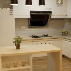 2018面积112平现代四居厨房装饰图