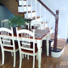 精选面积140平复式餐厅美式装修欣赏图片