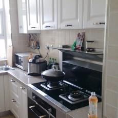 面积120平复式厨房美式效果图片