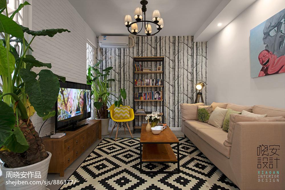精选面积73平小户型客厅混搭设计效果图