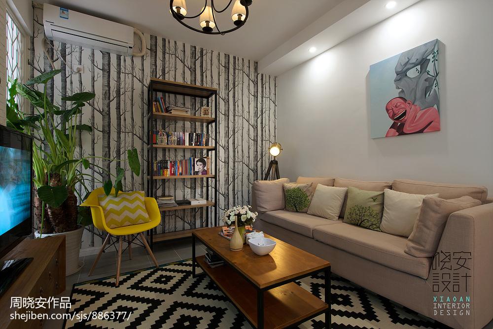 精选83平米混搭小户型客厅装修实景图