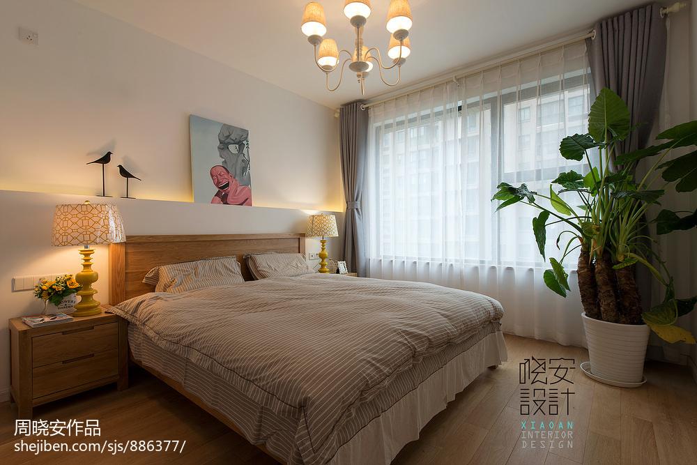 热门73平米混搭小户型卧室欣赏图片