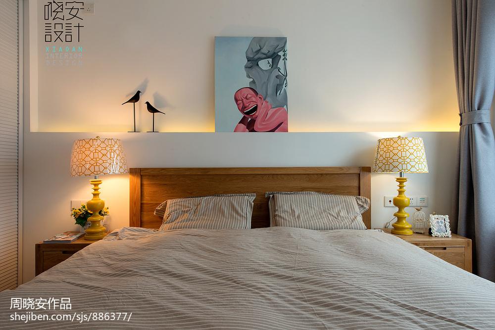 面积86平小户型卧室混搭装修效果图片